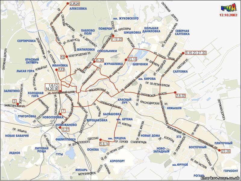 трамвайные маршруты киева